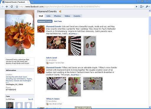 Diamond Events Fan Page