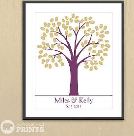 Traditional Wedding Tree - Finger Print Guest Registry Print