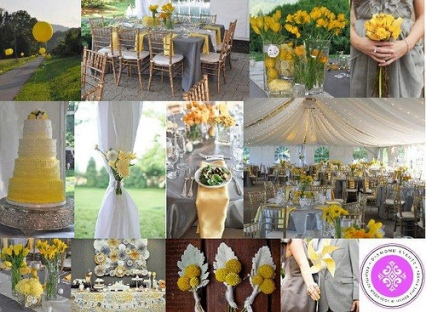 Event Design: Yellow & Gray Wedding Decor
