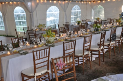 Head Table in the center of the Tent