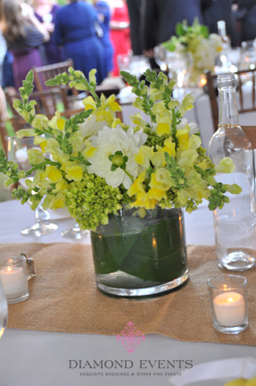 Yellow & Green Centerpiece Arrangement