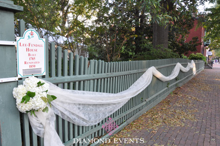Fence leading up to Lee Fendall