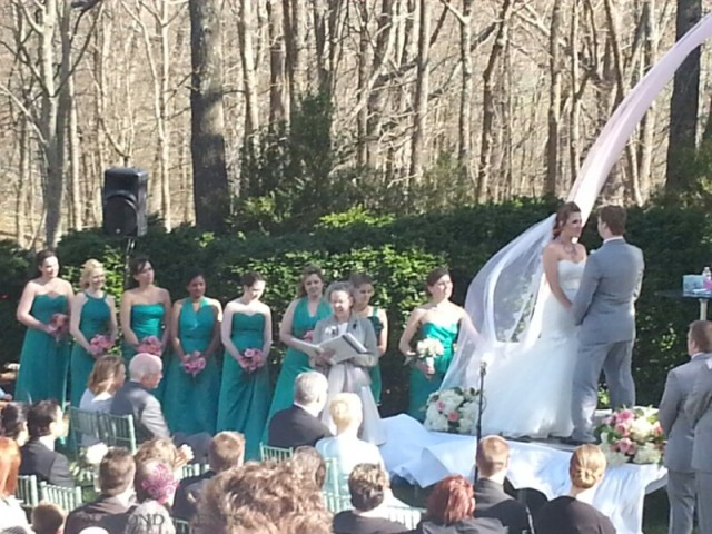 Wedding Ceremony at Rockwood Manor