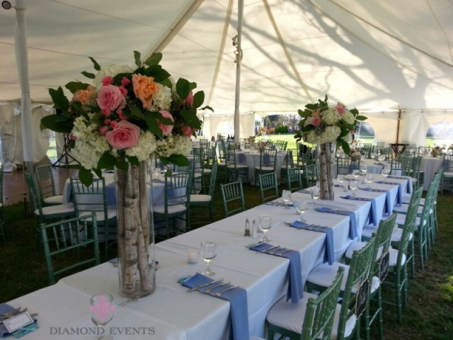 Head Table with tall centerpieces