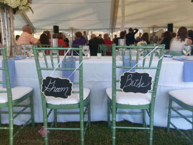 Green Chiavari Chairs at Rockwood Manor