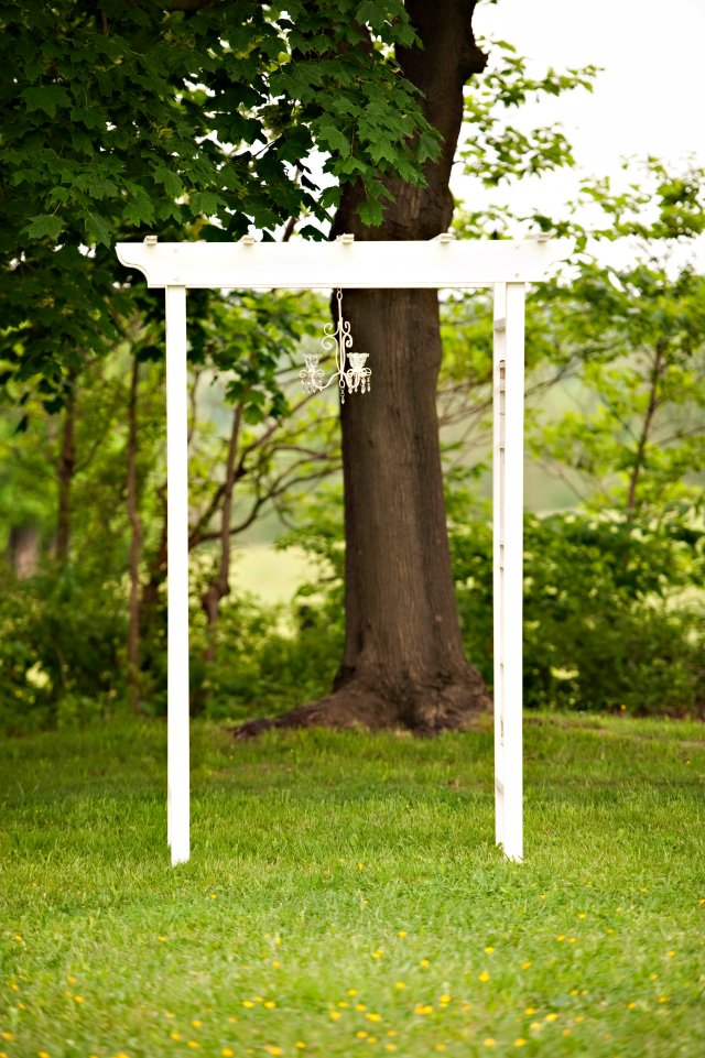 White Arbor for ceremony