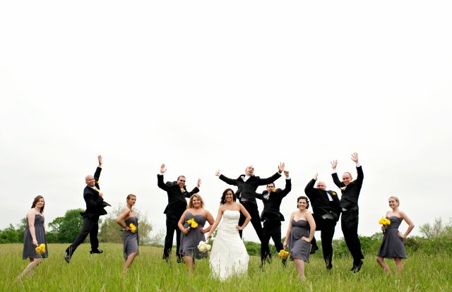 Wedding Party in Waterford Field