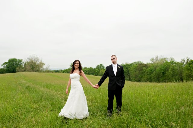 Bride & Groom in Waterford Field
