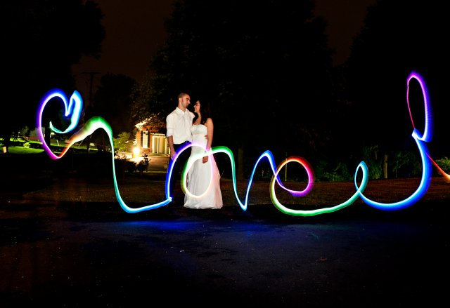 Bride & Groom sparkler picture