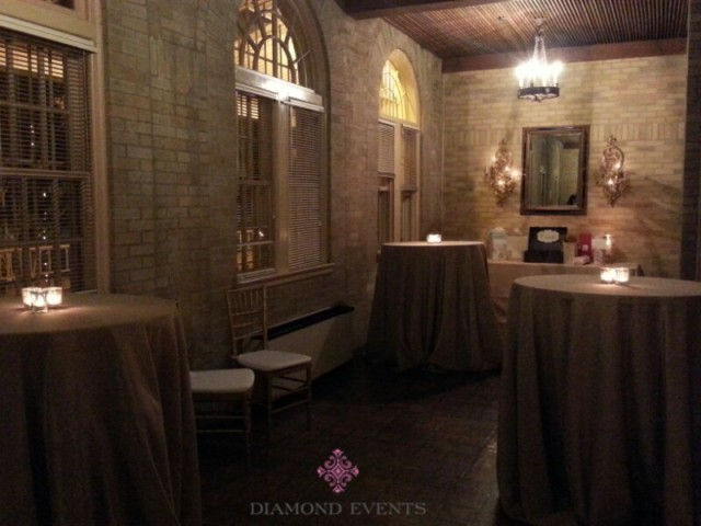 Bistro Tables at St. Francis Hall