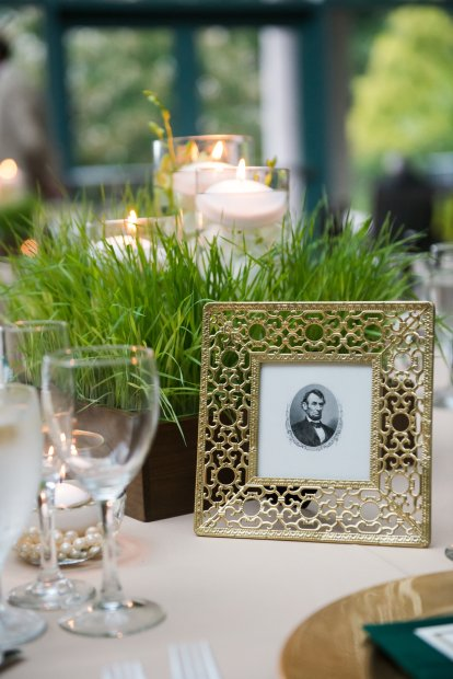 wheatgrass wedding centerpiece