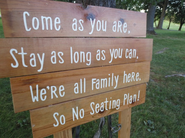 Rustic sign, come as you are, wedding, ceremony
