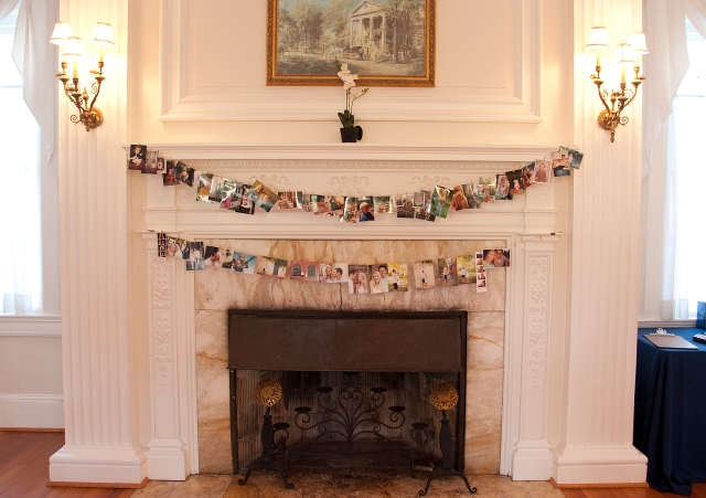 Pictures on mantle at Whitehall Manor