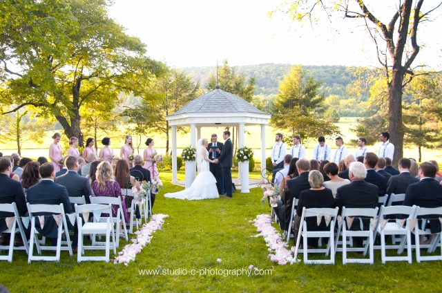 Wedding ceremony at Whitehall Manor