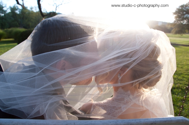 Kissing under veil picture