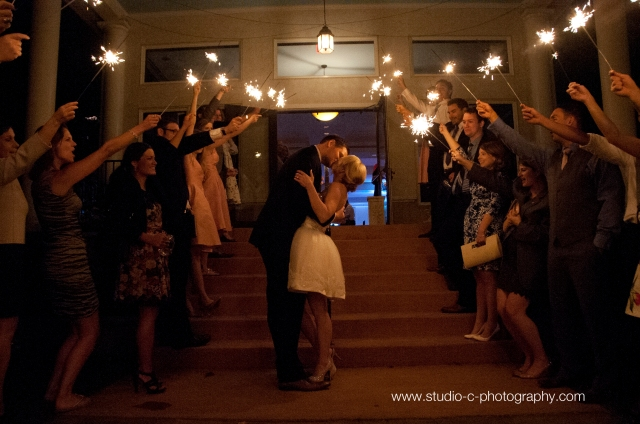 Sparkler Exit, Whitehall Manor, Wedding