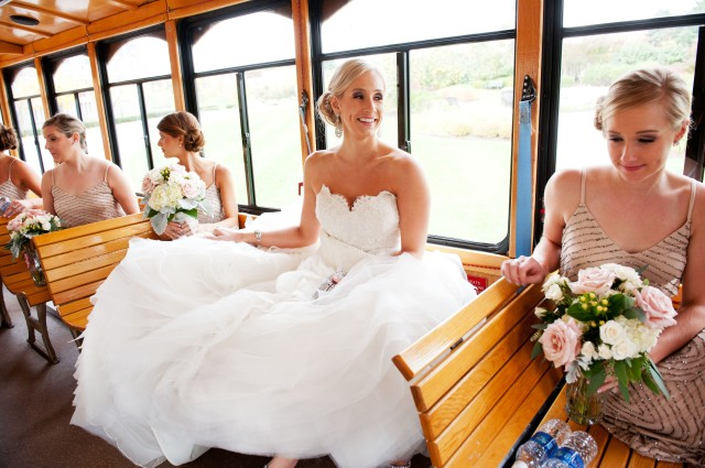 Bride in Trolley
