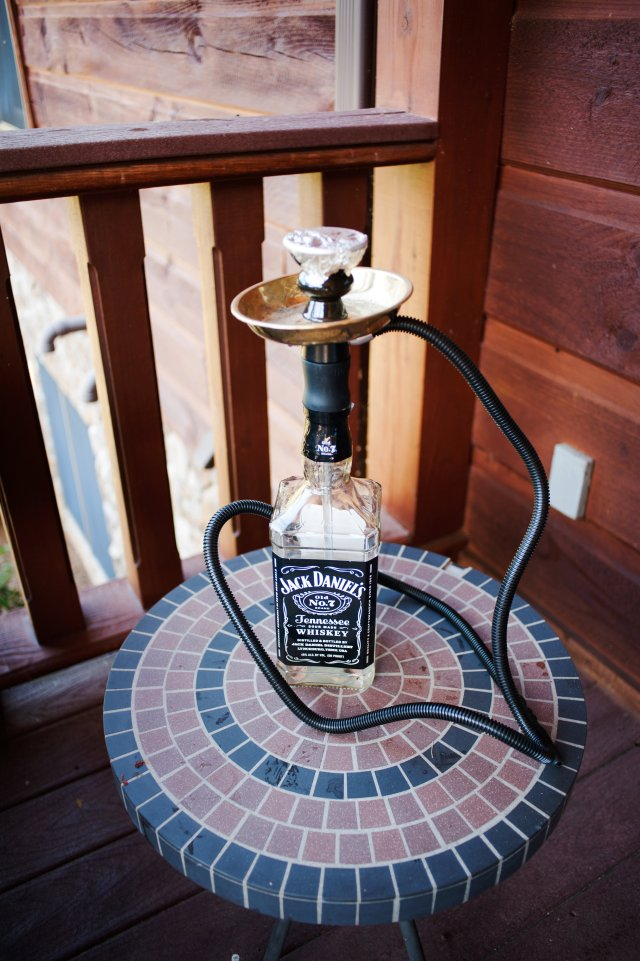 Jack Daniels hookahs for the late-night hookah bar.