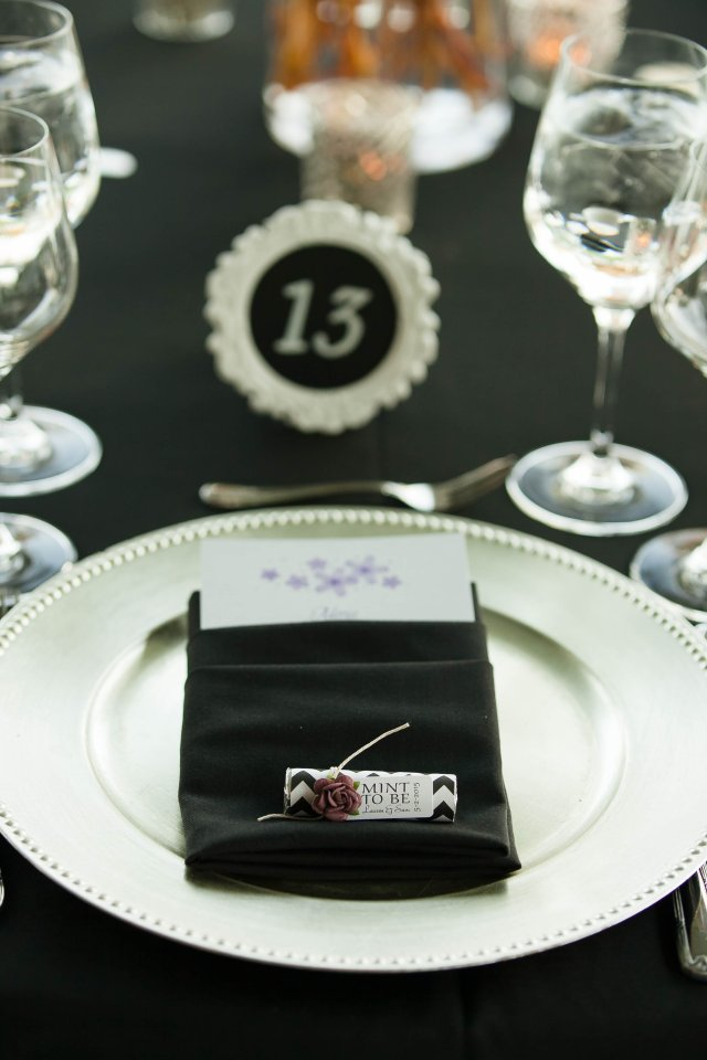 Place Setting with Silver Charger Plate