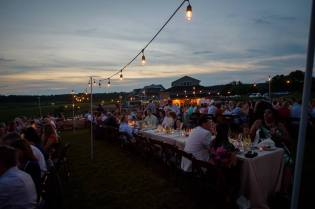 Al fresco wedding reception